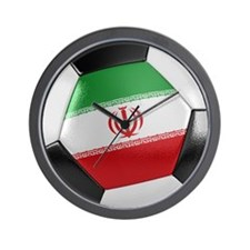 Iran Soccer Ball Wall Clock