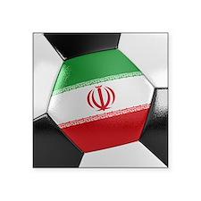 """Iran Soccer Ball Square Sticker 3"""" x 3"""""""