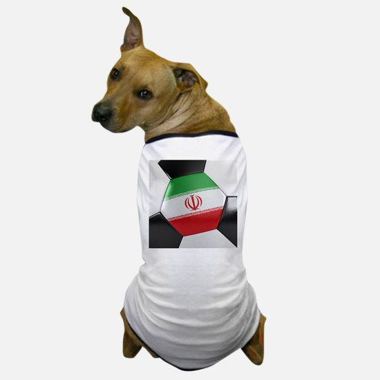 Iran Soccer Ball Dog T-Shirt