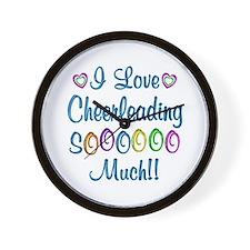 Cheerleading Love So Much Wall Clock