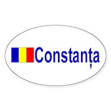 Constanta, Romania Oval Decal