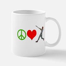 PEACE, LOVE, BASEBALL Mugs
