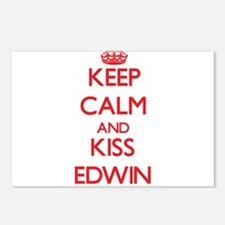 Keep Calm and Kiss Edwin Postcards (Package of 8)