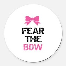 Fear the bow Round Car Magnet