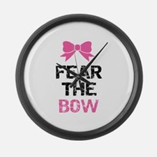 Fear the bow Large Wall Clock