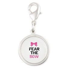 Fear the bow Silver Round Charm