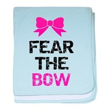 Fear the bow baby blanket