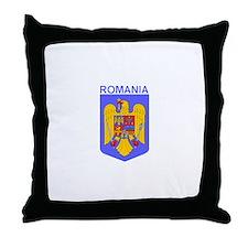Romania Coat of Arms Throw Pillow