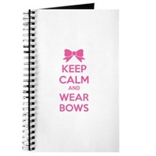 Keep calm and wear bows Journal
