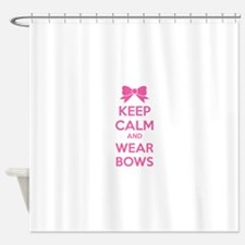 Keep calm and wear bows Shower Curtain