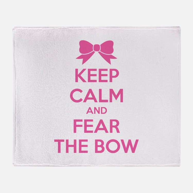 Keep calm and fear the bow Stadium Blanket
