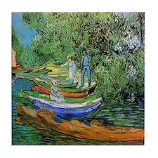 Van Gogh Ceramic Art Tile Bank of the Oise Auvers