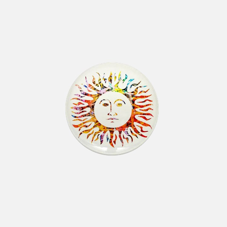 Sunface Mini Button