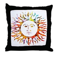 Sunface Throw Pillow