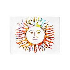 Sunface 5'x7'Area Rug
