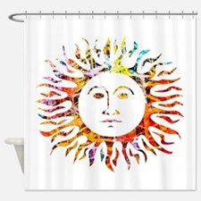 Sunface Shower Curtain