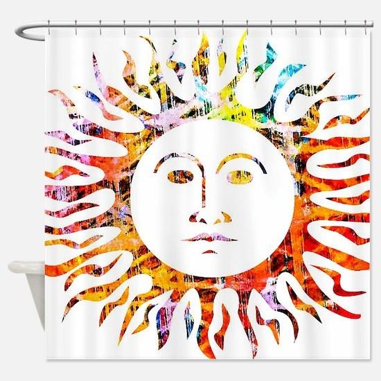 Sunface Shower Curtain