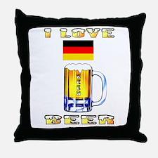 German Beer Throw Pillow