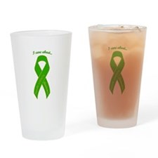 I Care About Tourette's Drinking Glass