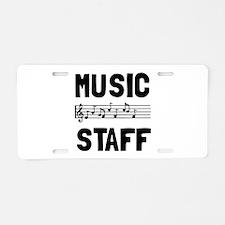 Music Staff Aluminum License Plate
