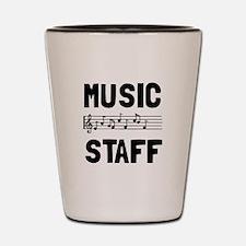 Music Staff Shot Glass