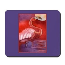 Red Flamingo Mousepad