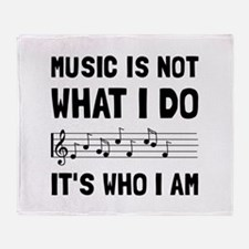 Music Who I Am Throw Blanket