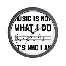 Music Who I Am Wall Clock