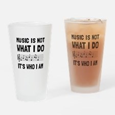 Music Who I Am Drinking Glass