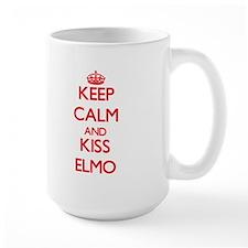 Keep Calm and Kiss Elmo Mugs