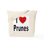 I Love Prunes Tote Bag