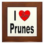 I Love Prunes Framed Tile