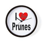 I Love Prunes Wall Clock