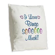 Bingo Love So Much Burlap Throw Pillow