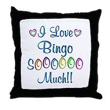 Bingo Love So Much Throw Pillow