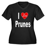 I Love Prunes (Front) Women's Plus Size V-Neck Dar