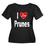 I Love Prunes (Front) Women's Plus Size Scoop Neck
