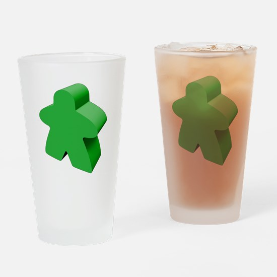 Green Meeple Drinking Glass