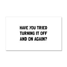 Off And On Again Car Magnet 20 x 12