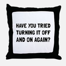 Off And On Again Throw Pillow