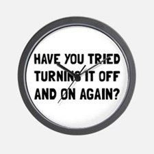 Off And On Again Wall Clock