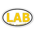 Yellow Lab Oval Car Sticker