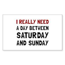 Saturday Sunday Decal