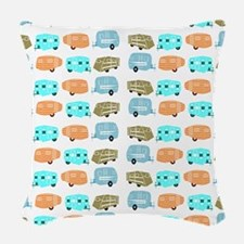 Rambling RVs Woven Throw Pillow