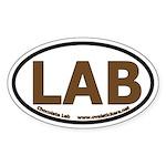 Chocolate Lab Oval Bumper Sticker