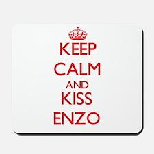Keep Calm and Kiss Enzo Mousepad