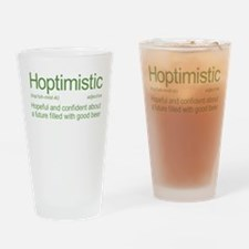 Hoptimistic Beer Drinking Glass