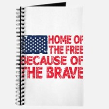 Home of the Free Because of the Brave USA Flag Jou