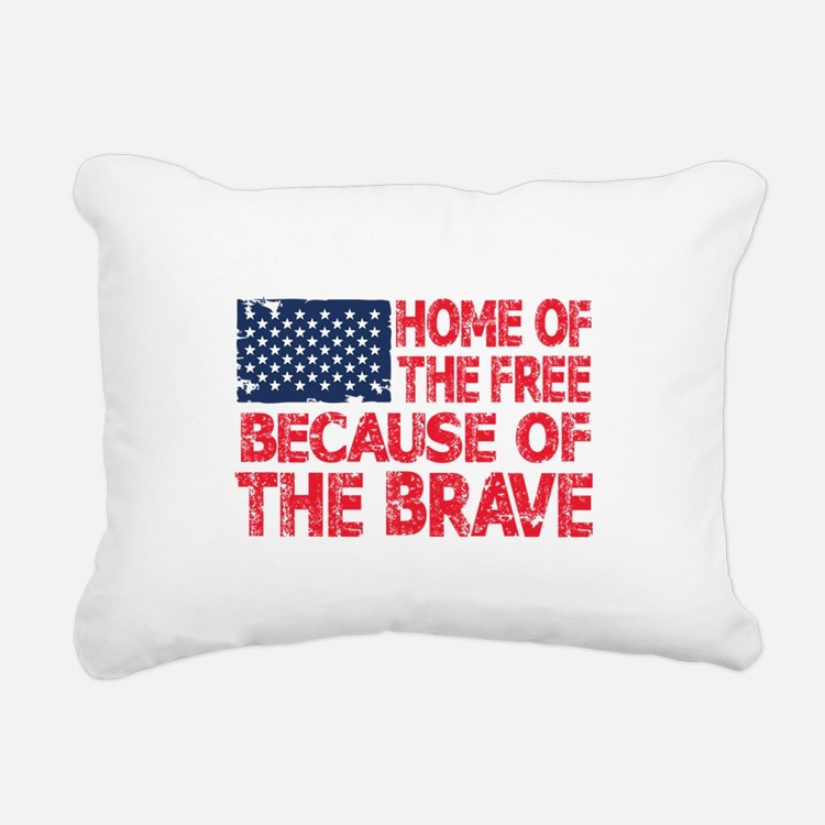 Home of the Free Because of the Brave USA Flag Rec