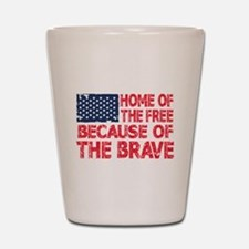 Home of the Free Because of the Brave USA Flag Sho